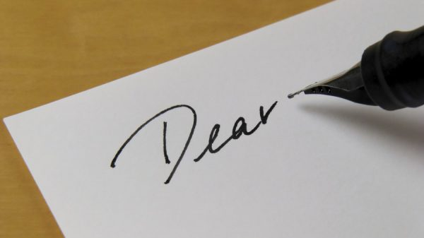 writing a letter image